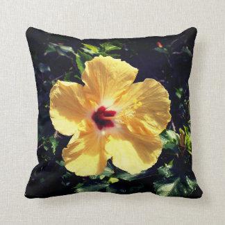 Yellow Hibiscus Cushion