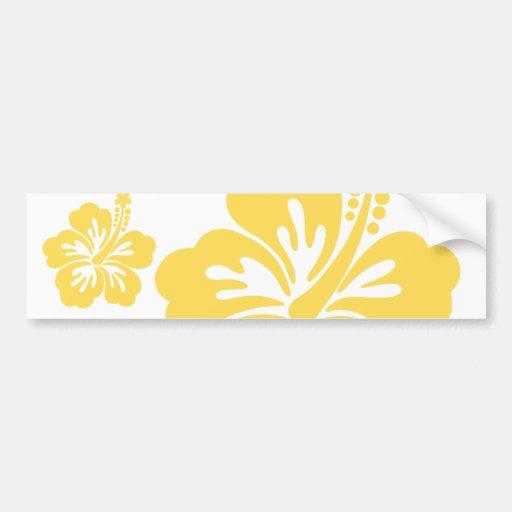 yellow hibiscus flower 11 bumper sticker