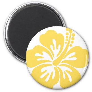 yellow hibiscus flower 11 refrigerator magnet