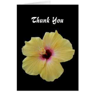 Yellow Hibiscus Flower Card