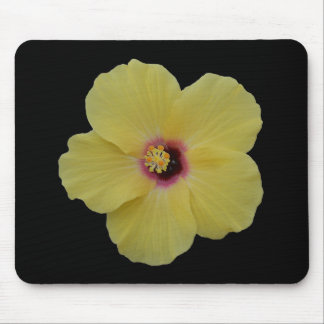 Yellow Hibiscus Flower Mouse Mat