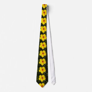 Yellow Hibiscus Flower Tie