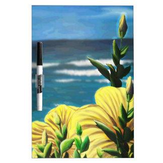 Yellow Hibiscus Overlooking the Ocean Dry-Erase Whiteboards