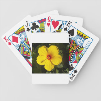 Yellow Hibiscus Bicycle Card Deck
