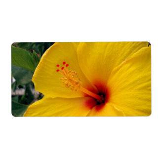 Yellow Hibiscus Shipping Label