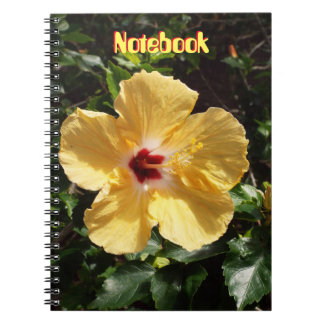 Yellow Hibiscus Spiral Note Books