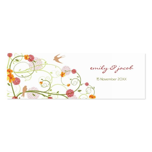 Yellow Hibiscus Swirls & Swallows TQ / Gift Tag Business Cards
