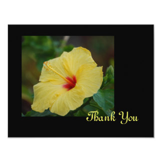 Yellow Hibiscus Thank You Card 11 Cm X 14 Cm Invitation Card
