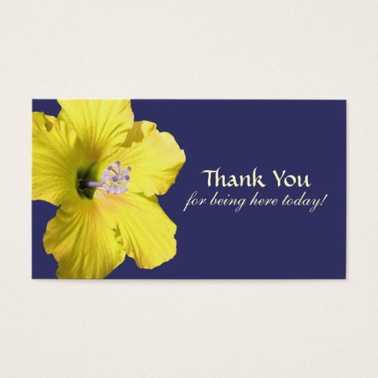 Yellow Hibiscus Thank You Favour Tags