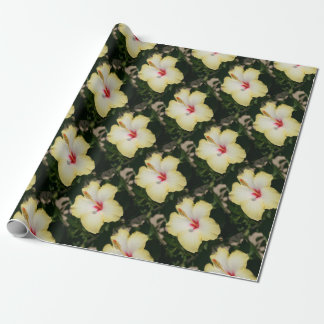 Yellow Hibiscus With Garden Background Wrapping Paper