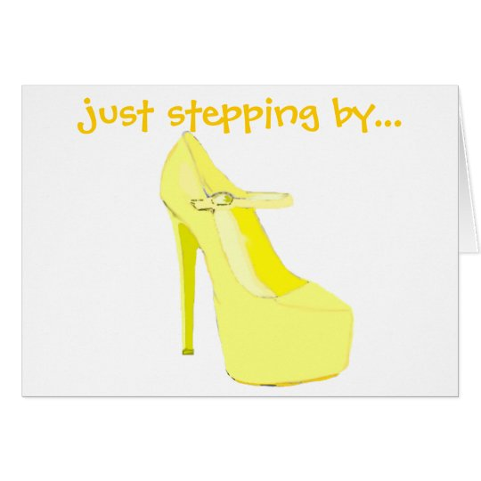 Yellow High Heel Shoe Card