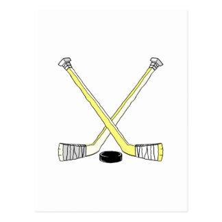 Yellow Hockey Sticks Postcard