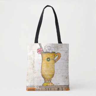 Yellow Holiday Cup Tote Bag