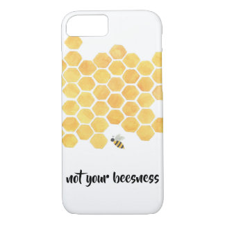 yellow honeycomb bee painting iphone case