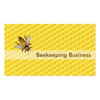 Yellow Honeycomb Beekeeping Apiary Business Card