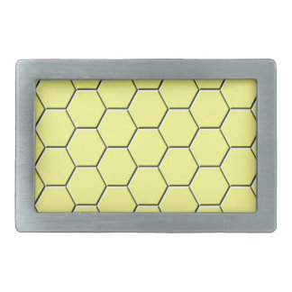 Yellow honeycomb pattern belt buckle