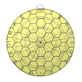 Yellow honeycomb pattern dartboard