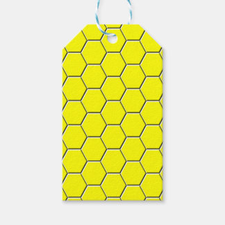 Yellow honeycomb pattern gift tags
