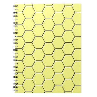 Yellow honeycomb pattern notebooks