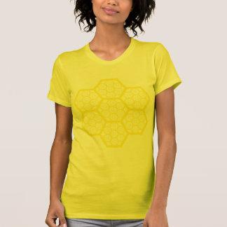 Yellow Honeycomb Pattern T-Shirt