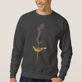 Yellow Hooded Warbler Audubon Bird Sweatshirt