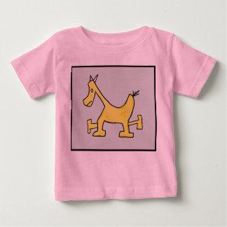 Yellow Horse Baby Shirt