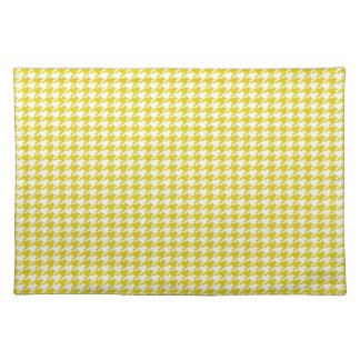 Yellow Houndstooth Placemat