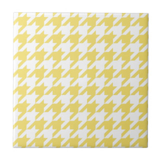 Yellow Houndstooth Tile