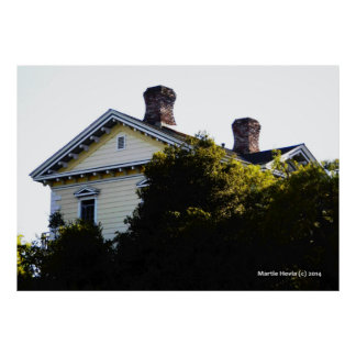 Yellow House Chimneys Poster