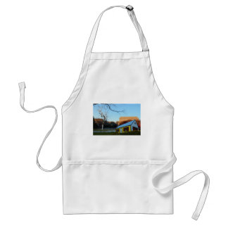 Yellow House In Park Standard Apron
