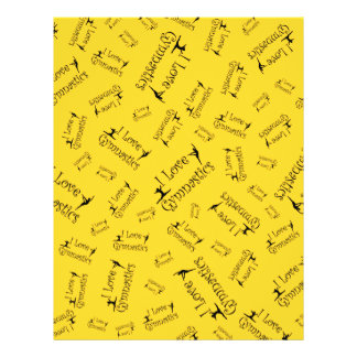 Yellow I love gymnastics Custom Flyer