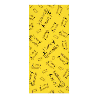 Yellow I love gymnastics Rack Cards