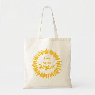 Yellow I make my own sunshine graphic Tote Bag