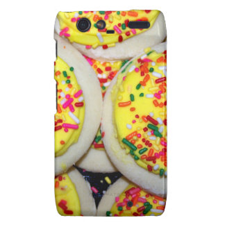 Yellow Iced Sugar Cookies w/Sprinkles Droid RAZR Cases