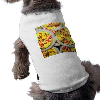 Yellow Iced Sugar Cookies w Sprinkles Pet Tee Shirt
