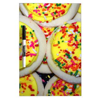 Yellow Iced Sugar Cookies w/Sprinkles Dry Erase Whiteboard