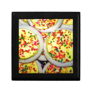 Yellow Iced Sugar Cookies w Sprinkles Trinket Boxes