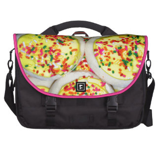 Yellow Iced Sugar Cookies w Sprinkles Bags For Laptop