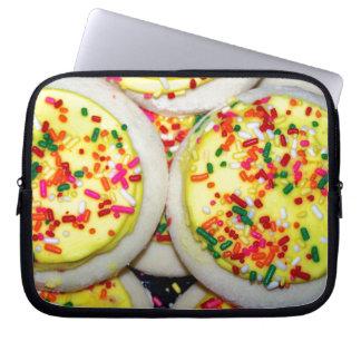 Yellow Iced Sugar Cookies w Sprinkles Computer Sleeve