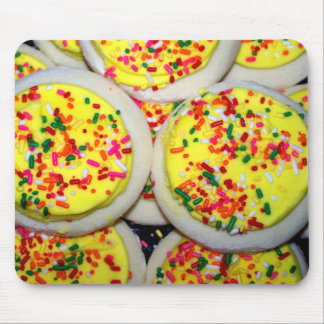 Yellow Iced Sugar Cookies w Sprinkles Mouse Pad