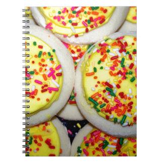 Yellow Iced Sugar Cookies w Sprinkles Notebook