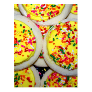 Yellow Iced Sugar Cookies w/Sprinkles Postcard