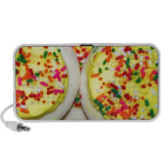Yellow Iced Sugar Cookies w Sprinkles Portable Speakers