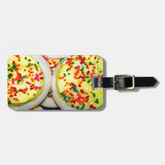 Yellow Iced Sugar Cookies w Sprinkles Tag For Bags