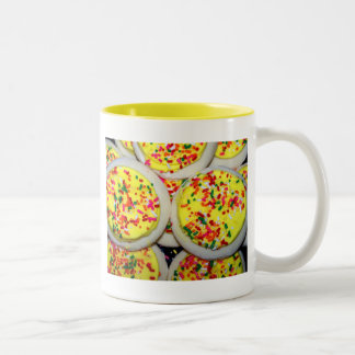 Yellow Iced Sugar Cookies w/Sprinkles Two-Tone Mug