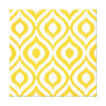 Yellow Ikat Classic Geometric Ethnic Print Stretched Canvas Prints