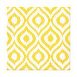 Yellow Ikat Classic Geometric Ethnic Print Stretched Canvas Prints