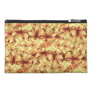 Yellow Illustrated Flower Floral Drawing Travel Accessories Bag