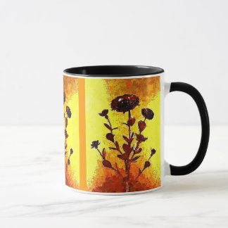 Yellow Impressionist Medieval Flower Art