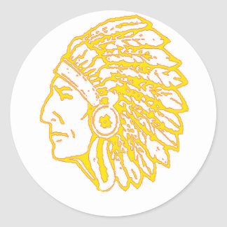 Yellow Indian copy Classic Round Sticker